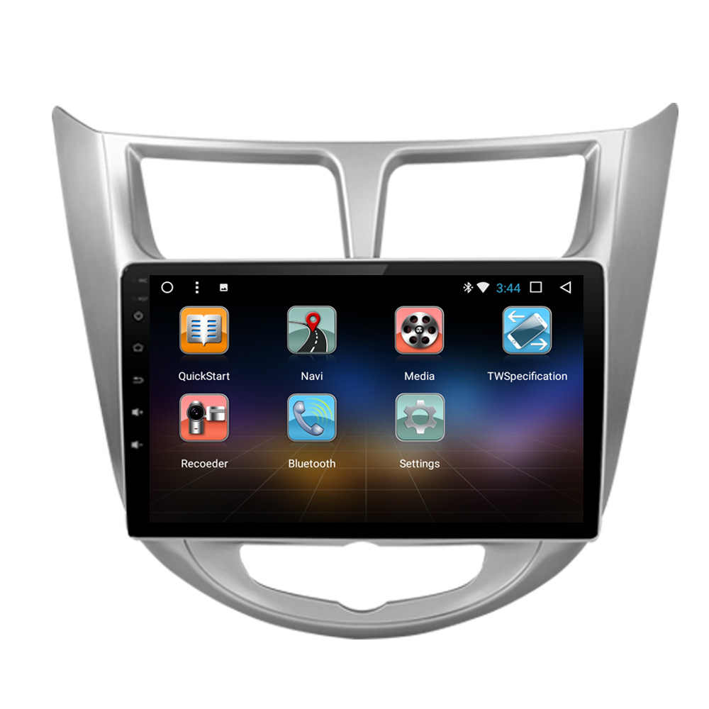 SZBULOAI reproductor de vídeo Android navegación Radio de coche reproductor Multimedia GPS para Hyundai Verna Solaris Grand
