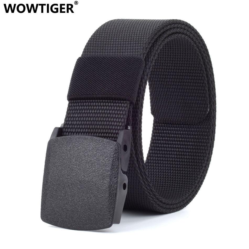 WOWTIGER 100cm-160cm Long Big size Canvas luxury men   belt   military outdoor Training Combat tactical male jeans   belts   for men