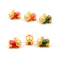New Arrival Pure 999 Gold Yellow Gold Bracelet Cute Pixiu Baby Bracelet 0.6g