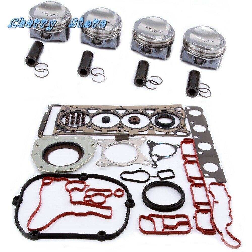 Nouveau 06 H 107 065 CP moteur Piston joint bague Kit de réparation pour VW Golf Passat Jetta Audi A3 A4 TT 1.8TSI 06J198151B broche 23mm