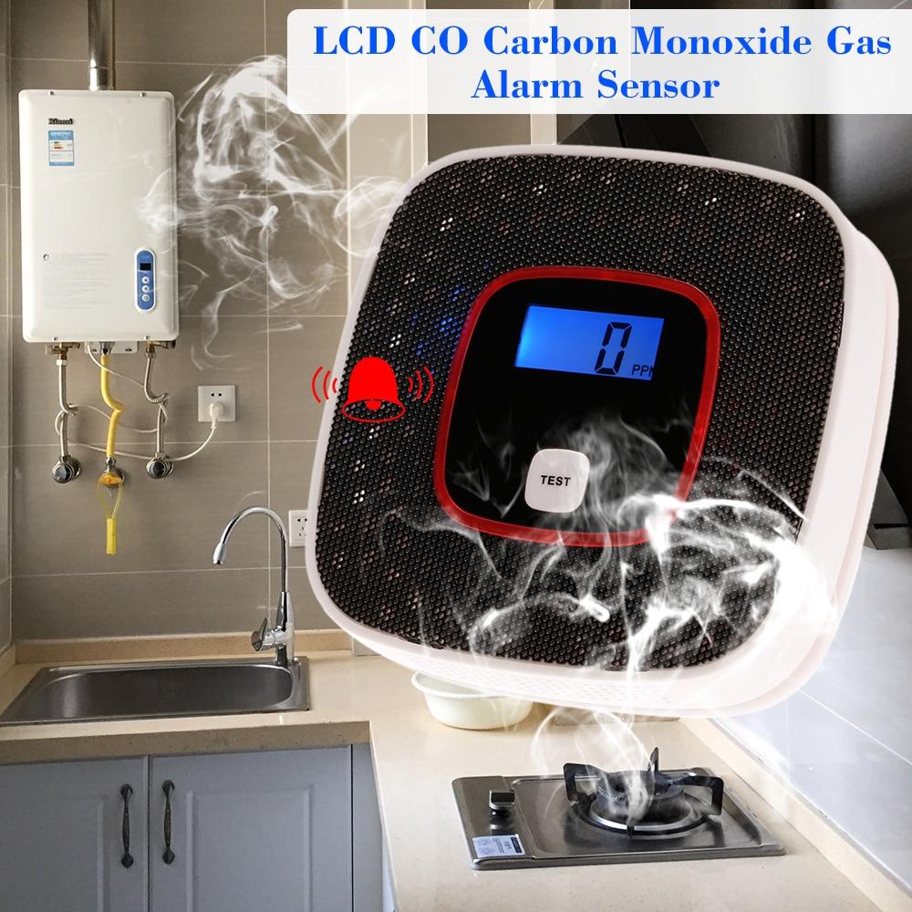 LCD Display CO Detector Carbon Monoxide Alarm Sensor Poisoning Gas Tester Human Voice Warning Detector For Alarm System co carbon alarm sensor warning monoxide poisoning smoke gas detector tester