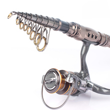 Telescopic Fishing Rod Combo With Saltwater/Freshwater Spinning Fishing Reel 3000 12+1 BB
