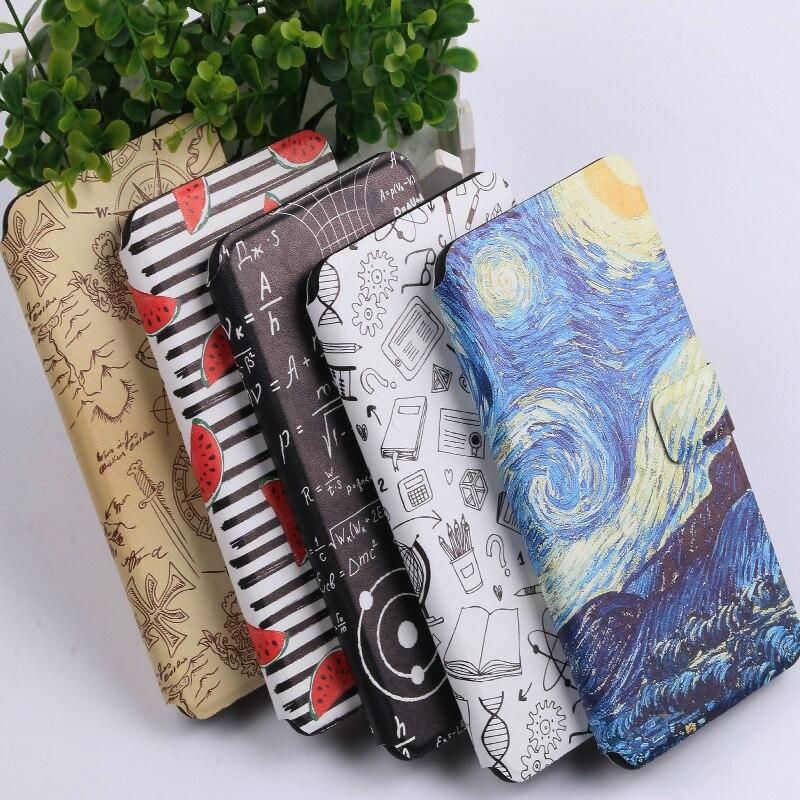 Coque For Lenovo S60t S90 t S580 A536 A606 A806 Cover PU Flip Wallet Fundas Painted cartoon cute stylish Phone Bag Cases Capa