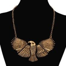 Женское винтажное ожерелье с большим орлом lzhlq массивное золотого