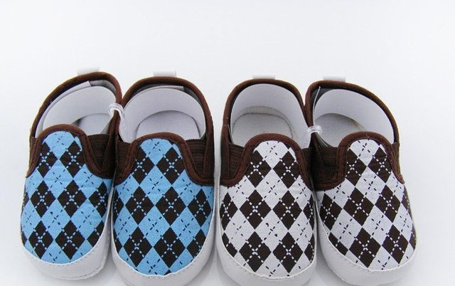 2016 Cool Boy Baby Shoes Branded Rhombus Pattern Infant Sapato for 0-12 month Tudo Para Bebes Antislip