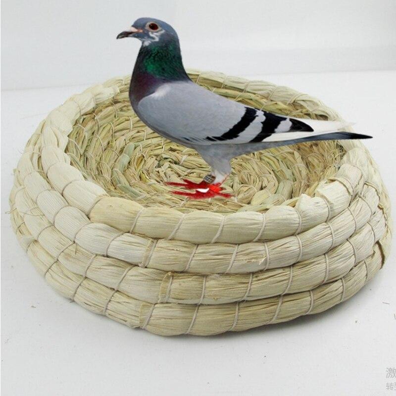 Round Straw Bird Nest Natural Grass Handmade Pest Weaving For Pigeon Rabbit Breeding