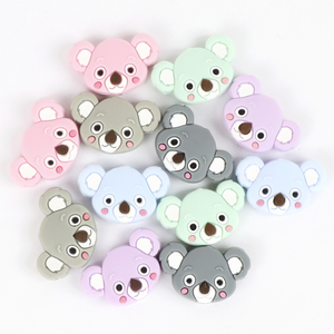 Image 3 - TYRY.HU 50pc Mini Koala Chewable Beads Food Grade Cartoon Silicone Beads Baby Teether Teething Toy DIY Pacifier Clip Accessories