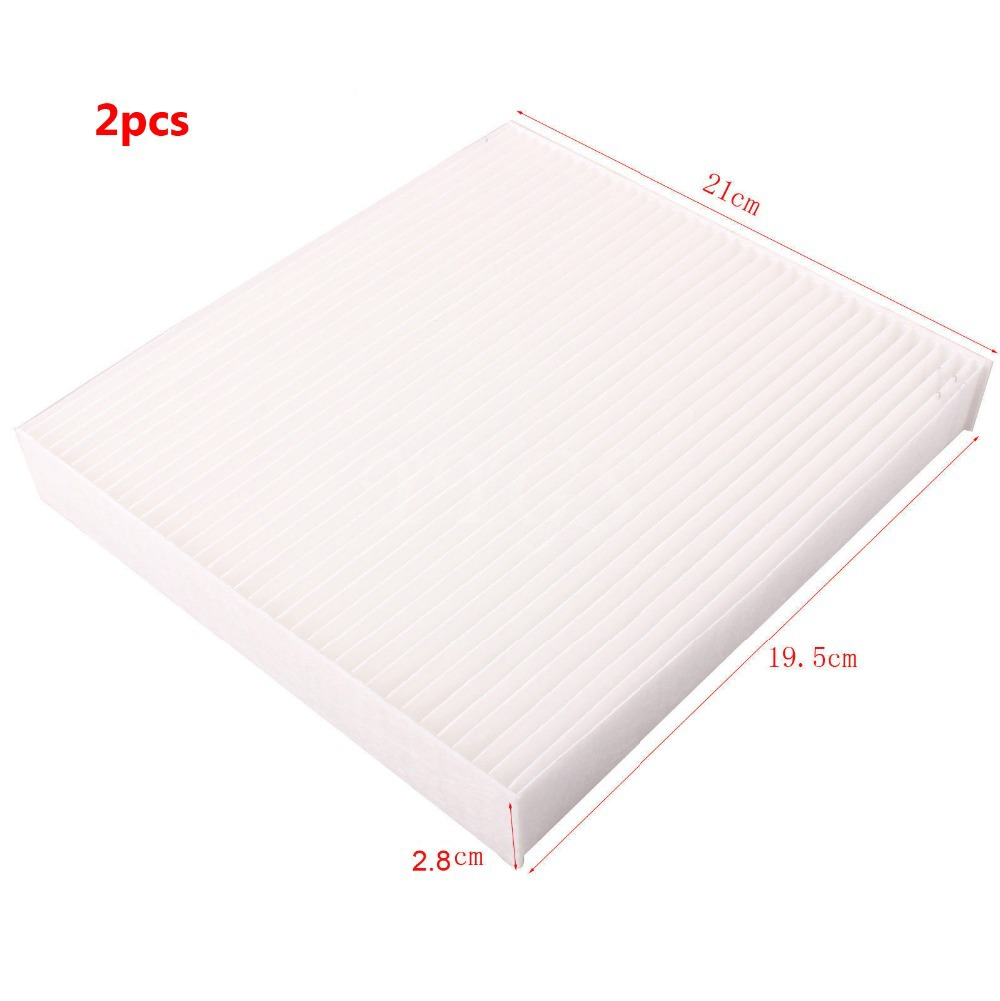 2 pcs white cabin air filter 2006 2011 for toyota lexus camry avalon corolla highlander tundra. Black Bedroom Furniture Sets. Home Design Ideas