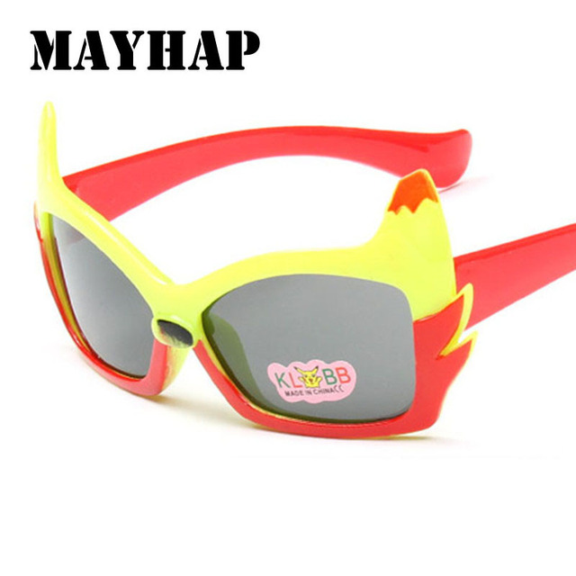 5d8f8548dbf MAYHAP New Colorful cute fire Cat cartoon Sun glasses fashion brand design Children  boys girls Sunglasses Anti-uv Baby Eyewear