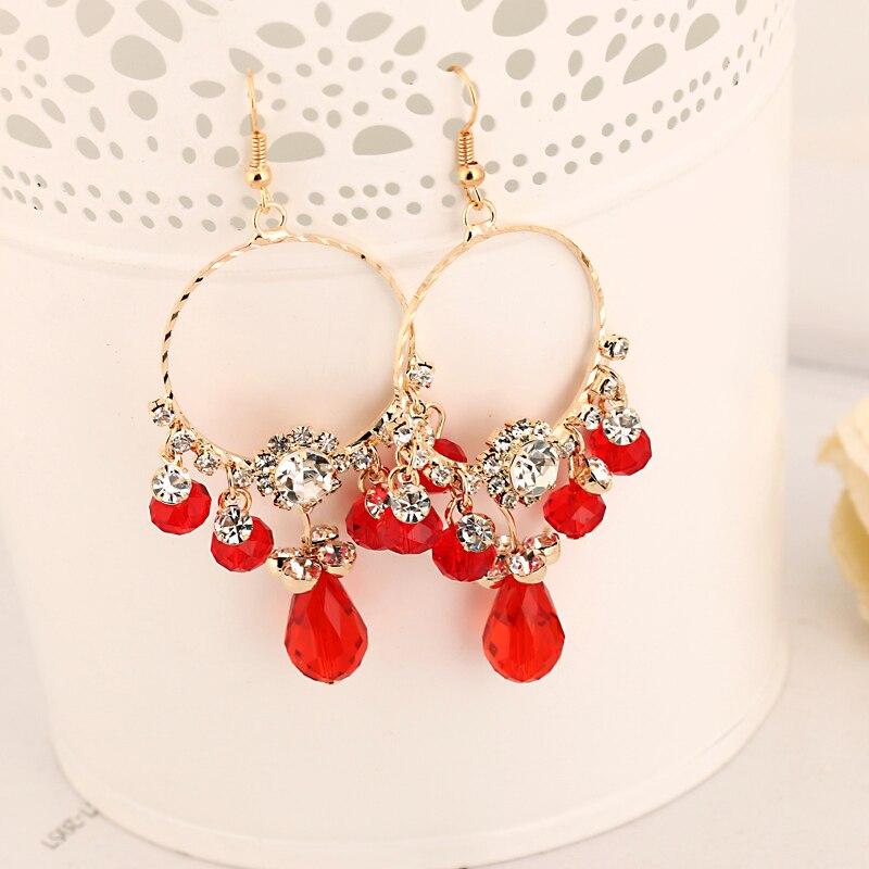 YFJEWE 2018 Top Quality Factory Crystal Super Flash Tassel Earrings Female Fashion Drop Earrings For Women  #E167