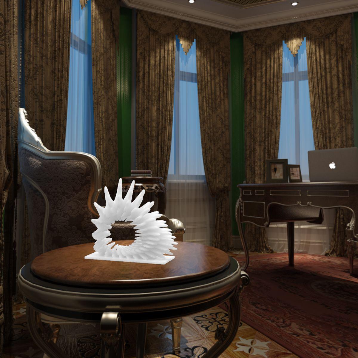 Изысканный Номер Декоративные Скульптура коралловый 3D печатных Скульптура украшения дома оригинальный Дизайн высокое качество красивая р
