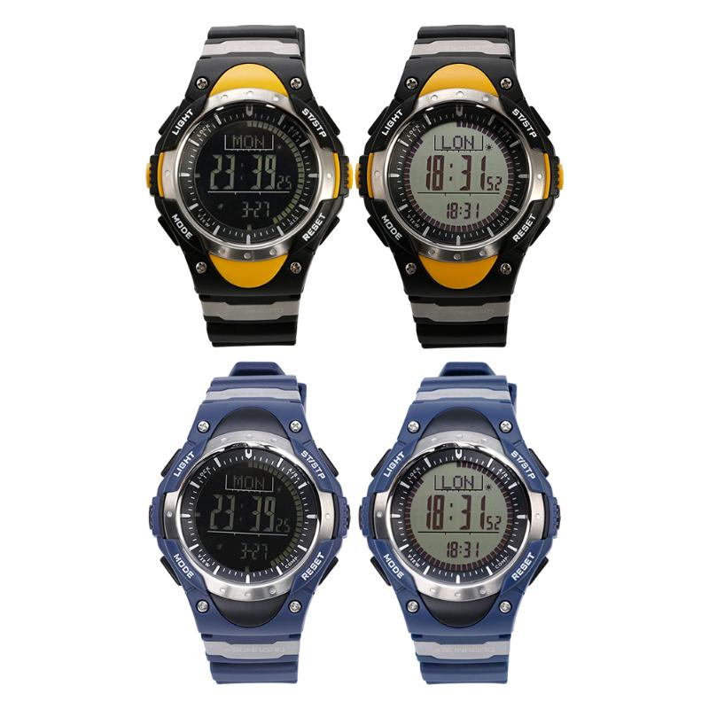 Men Digital Watches Waterproof Outdoor watch Clock Fishing Altimeter Barometer Thermometer Altitude Climbing Hiking Sports Watch outdoor multifunction digital fishing barometer waterproof fishing watch barometer altimeter thermometer sports watch 6 colors