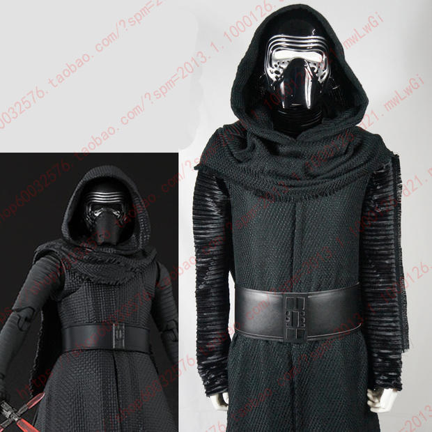 star wars 7 The Force Awakens Kylo Ren traje de cosplay adulto hecho