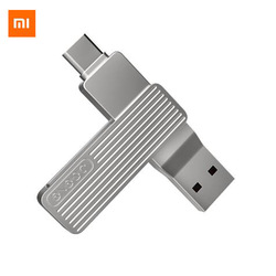Xiaomi Youpin JESIS Type-C USB Dual Interface Mobile Phone U Disk M1 360 Rotation Aluminum Alloy Material 120MB/S Can Use APP