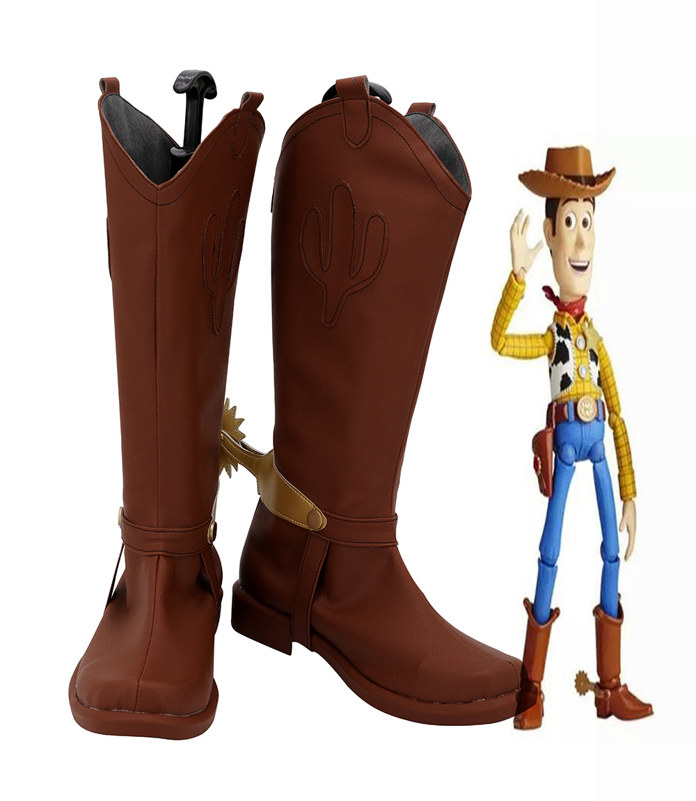 Toy Story shérif Woody Cosplay bottes marron chaussures sur mesure garçons filles Cosplay chaussures toute taille