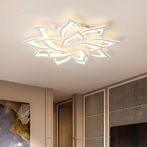 Image 3 - Luminárias modernas de teto com led, sala de jantar, decoração de casa, para quarto, restaurante, iluminação, regulável, lustre