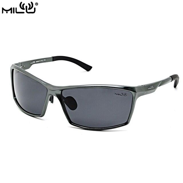 5f11ae6f71919 MILU Logotipo Da Marca de Luxo Óculos De Sol Dos Homens Polarizados  Esportes Ao Ar Livre