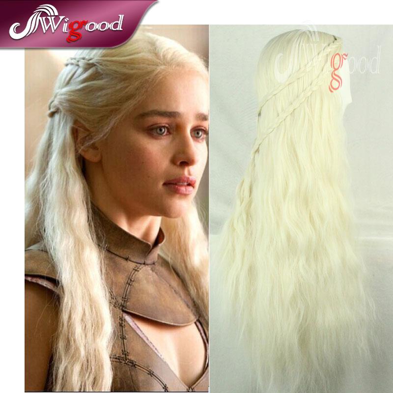 Marvelous Aliexpress Com Buy 70Cm Daenerys Targaryen Wig Dragon Princess Short Hairstyles Gunalazisus