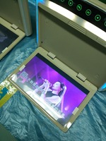 DC12 24V Super Slim 12 inch Flip Down Bus Roof Monitor HD 1600:900 Support 1080P MP5 SD TF HDMI FM Transmitter 2 Way Input