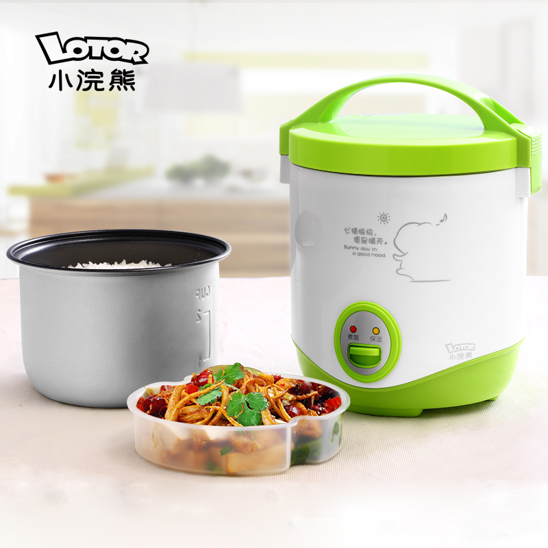 raccoon Mini Rice cooker Small Rice cooker Cooking pot Mini Rice cooker 1L Student rice cooker 110v 220v dual voltage travel cooker portable mini electric rice cooking machine hotel student multi stainless steel cookers