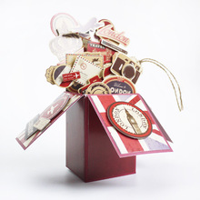 Eno saludo Eno tarjeta de felicitación Vintage 3d en una caja que hace el Kit, Retro Londres y París viaje Pop Up Card Box
