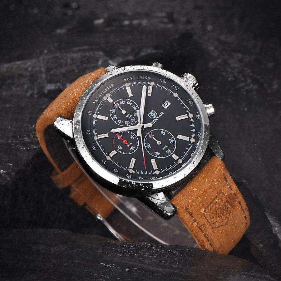 BENYAR montres hommes Marque De Luxe montres à quartz Mode montre chronographe Reloj Hombre Sport Horloge Mâle Heure Relogio Masculino - 5