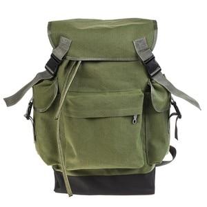 Image 4 - 70L Multifunctional Army Green Large Capacity Canvas Carp Fishing Bag Fishing Tackle Backpack
