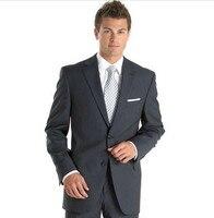 Hot Dark Grey Bruidegom Suits voor Wedding Party Beste mannen Trouwpak smoking suits voor grooms 2 Stuk business pak