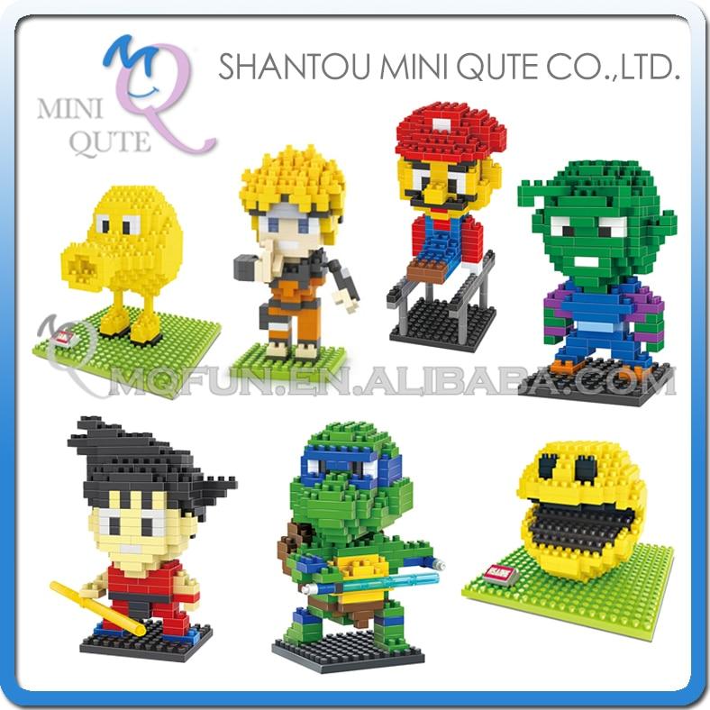 Mini Qute Diamond Anime Cartoon Naruto Pixels Dragon Ball