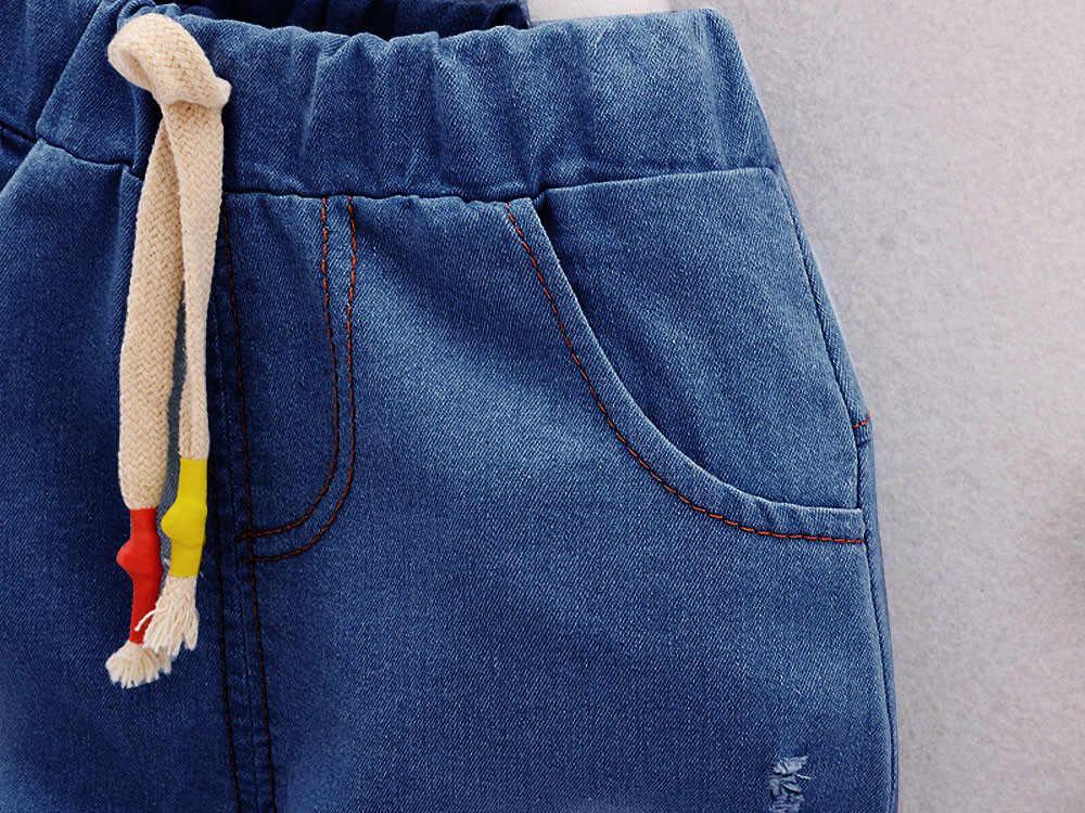 אופנה אישיות פנטגרם מכתב למעלה ג 'ינס מכנסיים קצרים סט בני בנות כוכב מכתב צמרות אפוד + מכנסיים קצרים תלבושות בגדי סט F4