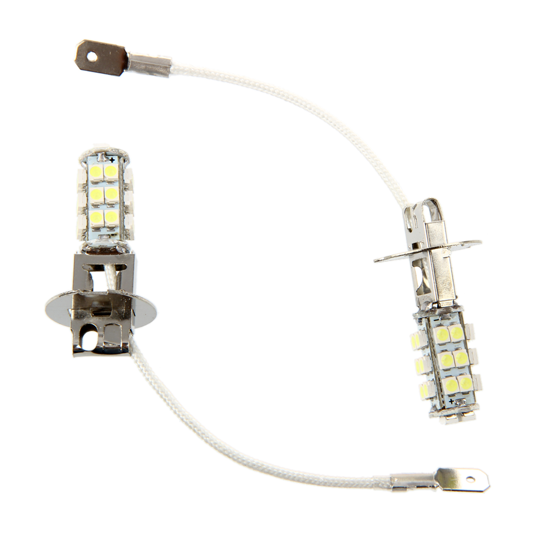 2 Car H3 3528 SMD 26 LED Head Light Headlight Bulb Lamp