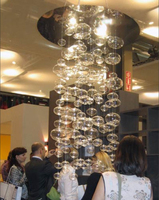 Penthouse villa escalier hôtel verre bulle lumière lustre créatif D60CM