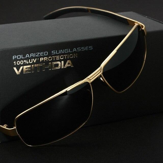 Veithdia Mens Polarized UV400 Sunglasses For Driving Car Sports Fishing Male Original Luxury Famous Brand Sun Glasses Men's