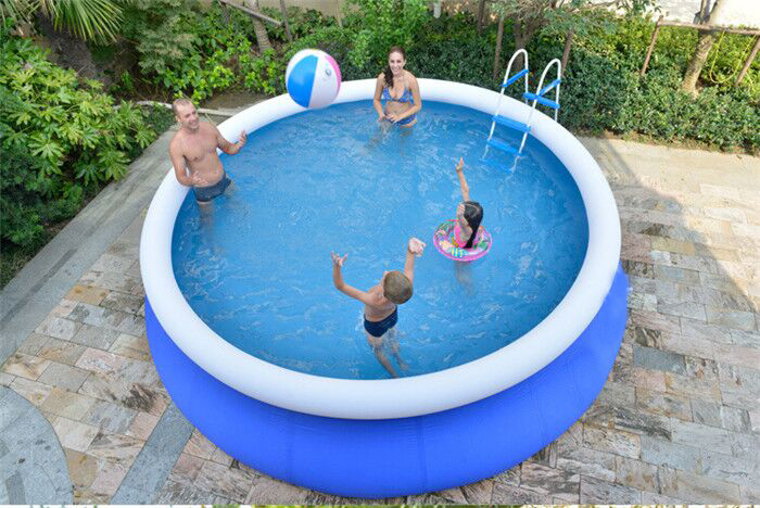 Inflatable swimming pool water park cool water sports for Best rated inflatable swimming pool