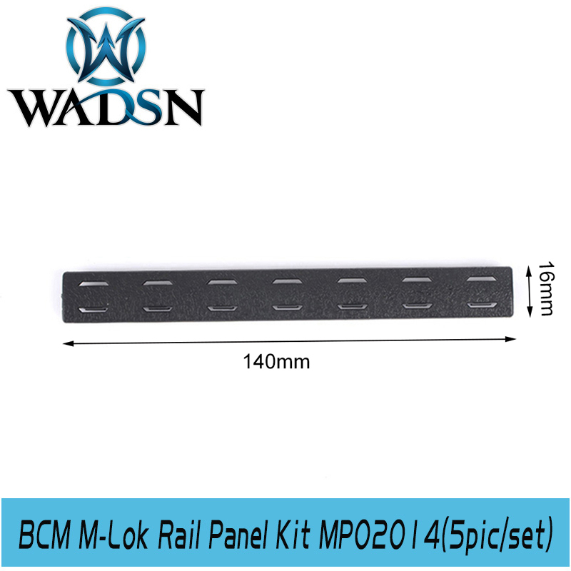 Image 5 - WADSN Airsoft BCM M Lok Panel Kit (5 pcs) Tactical Softair Polymer Rail Set Protector MP02014 Weapon Light Accessories-in Weapon Lights from Sports & Entertainment