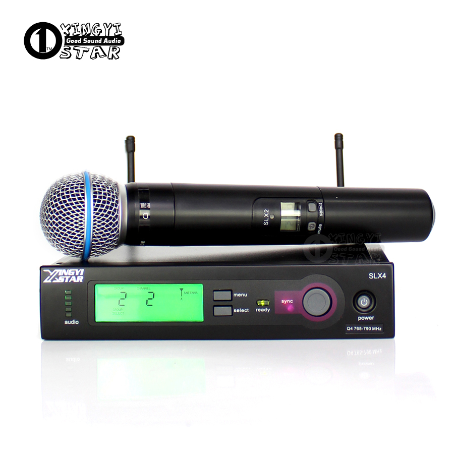 Professional Wireless Microphone System SLX2 Cordless Handheld Mic Digital Receiver For SLX24 Beta58 Karaoke Singer Bar Show KTV zmvp uhf professional slx24 beta58 wireless microphone cordless slx karaoke system with handheld transmitter band r5 800 820mhz