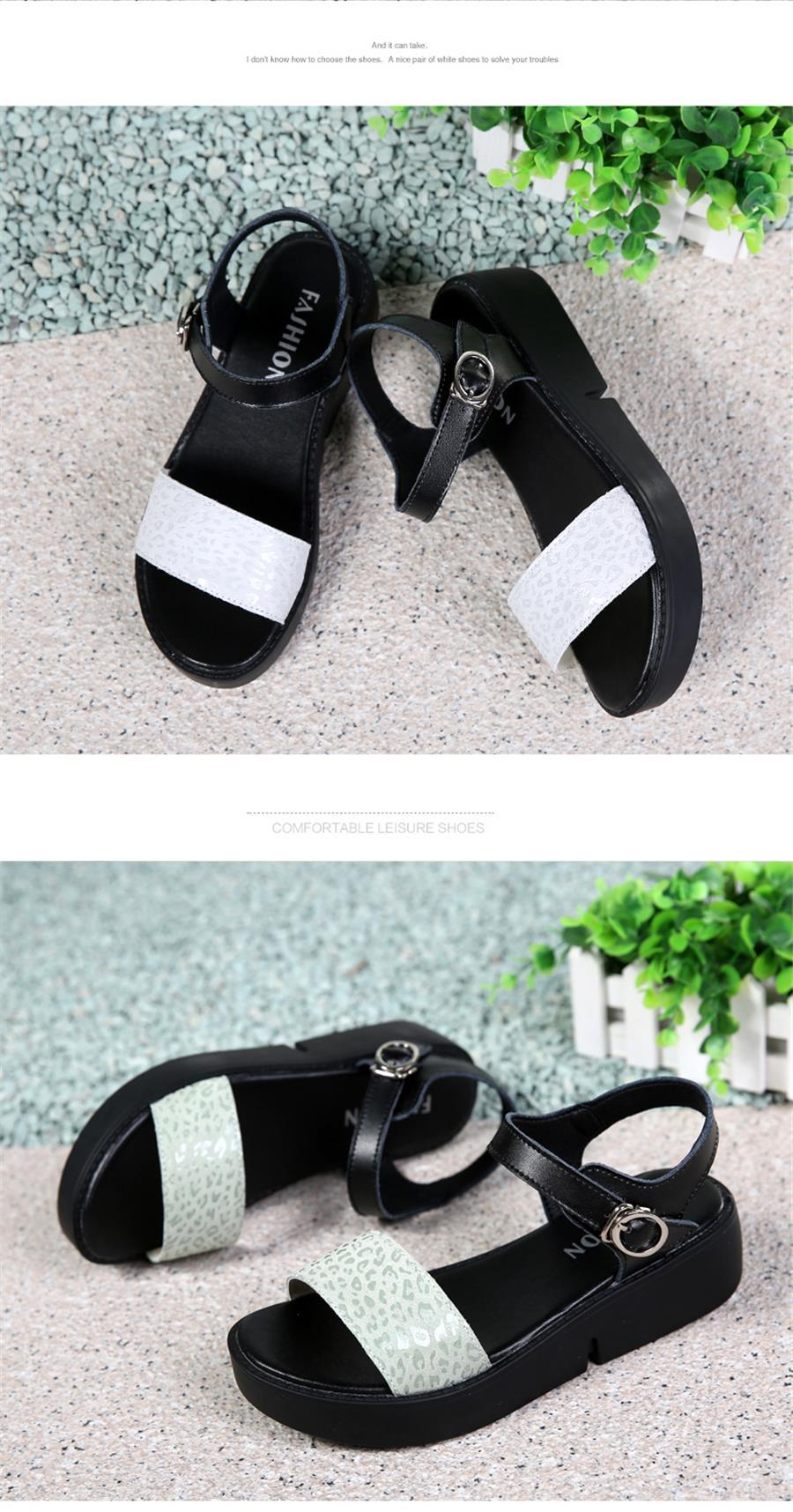 b57d1b6588395 STQ 2019 women platform sandals suede leather flat sandals Low Wedges  Summer female Sandalias ladies gladiator sandals 8631USD 29.99-33.29 pair