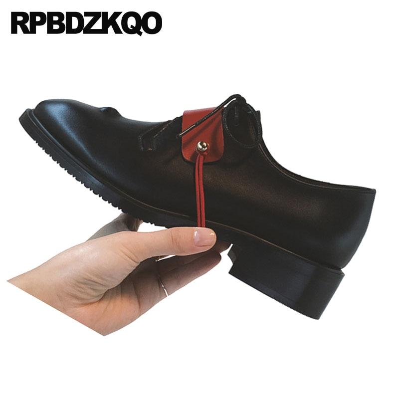 Chaussures Designer Britannique Style Noir Rond Chine Richelieus Femmes L'école Up Dames Japonais Dentelle De Vintage Bout Antidérapant Chinois xwRAgzqw