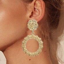 Pendientes redondos Vintage para mujeres de oro/plata pendientes de joyería de moda declaración 2019 Joyería Moderna