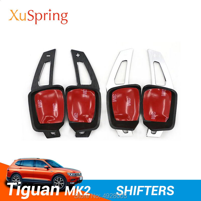 Car Sport Model Steering Wheel Shifters Pedals Refit Auto Accessories Styling for Volkswagen VW Tiguan 2016 2017 2019 mk2