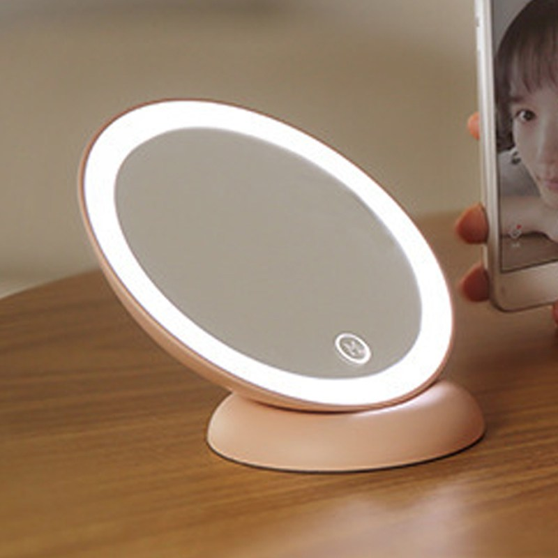 Portable Touch Screen LED Makeup Mirror With Light Rotatable Desktop Table Lamp Make Up Cosmetic Mirror Magnet Wall Mounted portable led touch screen makeup mirror