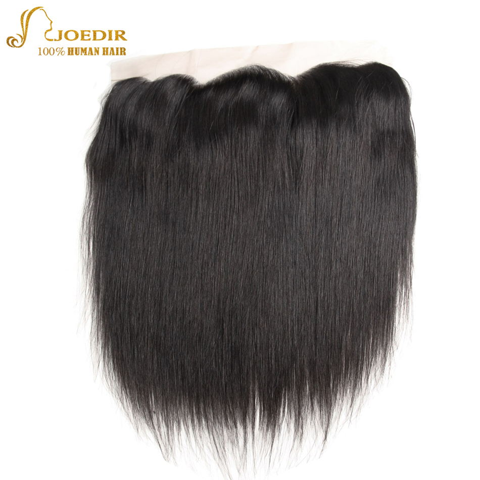 Joedir Malaysian Straight Hair Bundles With Frontal Closure 2 Pcs Human Hair Extensions With Lace Frontal 13x4 Pre Plucked