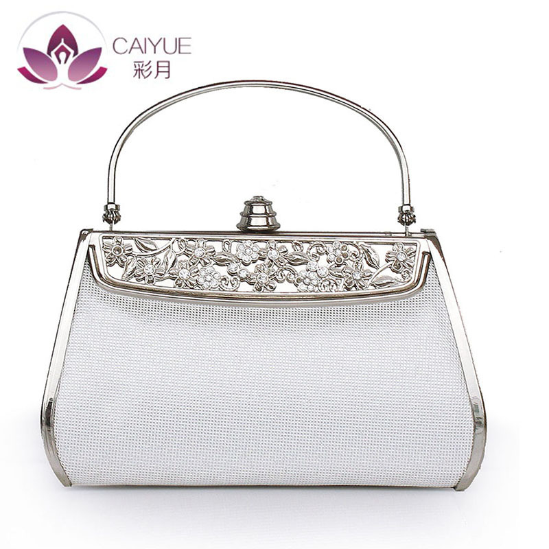 Luxury Handbags Women Bags Designer Hand Made Diamonds Women Metal Frame Evening Clutches Purse Bridal Wedding Shoulder Bag