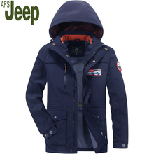 Afs Jeep Куртка Мужчины 2017 Осень Новый мужская Quick Dry Ветрозащитный Куртка Моды Случайные Сплошной Цвет Мужчины Комфорт Пальто 110