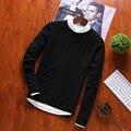 Pullover Pullover Männer Oansatz 100% Baumwolle Pullover der Männlichen Und Neue Mode Langarm Casual Für Herren 2019 Herbst M-3XL heißer Verkauf