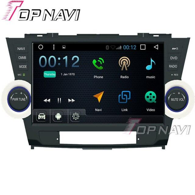 10.1 дюймов Quad Core 16 Г Android 6.0 Автомобильный Радиоприемник Стерео для Toyota Highlander Авто Мультимедиа GPS Навигация Видео Автомобиля DVD плеер