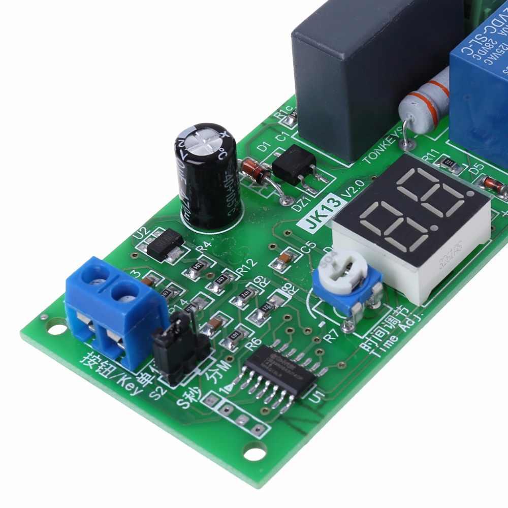 1X NEW AC 220V Digital Display Delay Relay Module Delay Timer Switch 0-99 S//Min