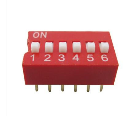 DS-05 Red 6P DIP Switch 2.54mm 5 Position Encoder Switch Slide Switch 20PCS/LOT