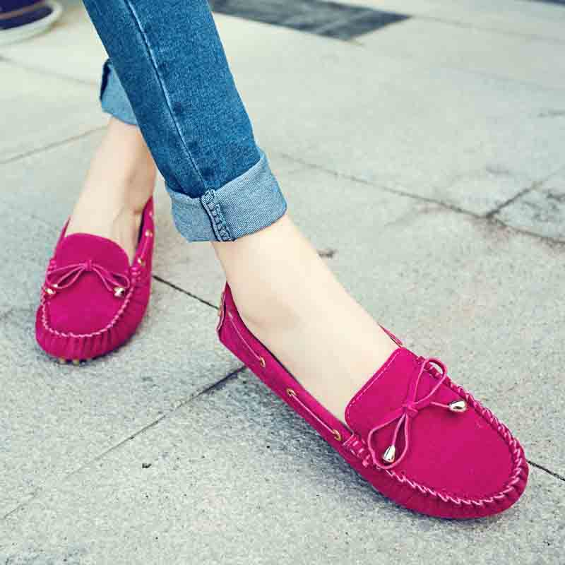 Boat Shoes Women 2015 New Casual Flat Heel Shoes Tassel Soft Flat-bottom Bowknot Round Toe Loafer Shoes Doug Shoes Mujer Zapatos new arrival women s casual shoes graffiti leopard print 3 colors canvas shoes soft loafer women flat shoes hse16