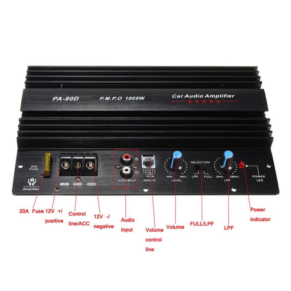 Доска Моно аудио Мощность усилители домашние ful бас сабвуферный усилитель для модификации автомобиля PA-80D 12 В 1000 Вт Новые поступления